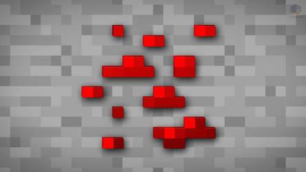 MineCraft Shaded Redstone Ore Wallpaper by ChrisL21