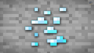 MineCraft Shaded Diamond Ore Wallpaper by ChrisL21