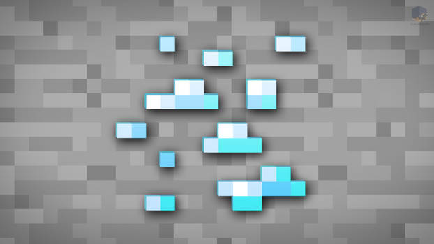 MineCraft Shaded Diamond Ore Wallpaper