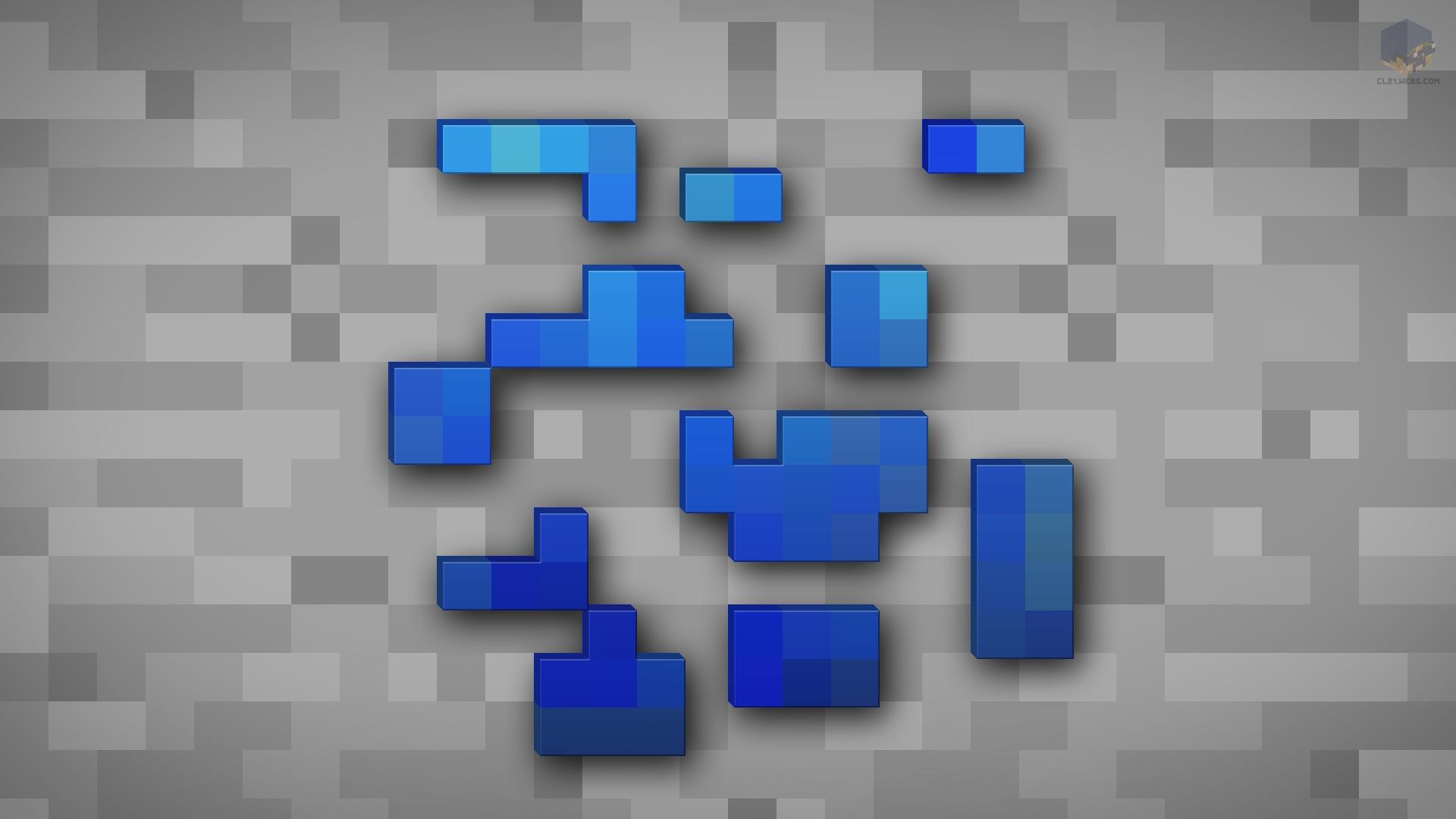 Minecraft shaded lapis lazuli ore wallpaper by chrisl21 on Block wallpaper
