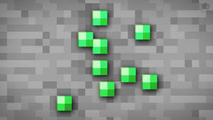 MineCraft Shaded Emerald Ore Wallpaper