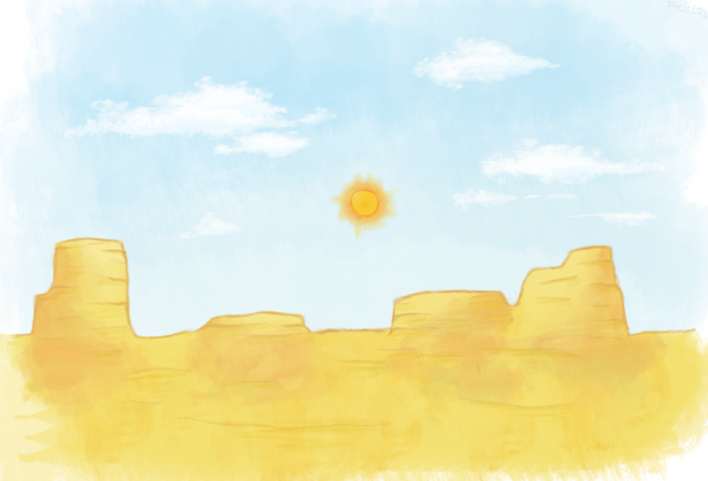 A Desert - Painting Practice