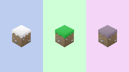 Grass Block and Friends by ChrisL21