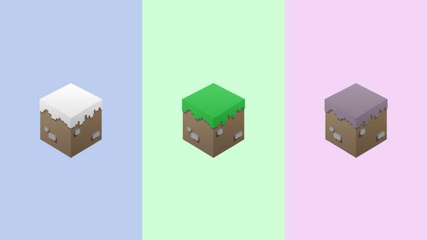 Grass Block and Friends