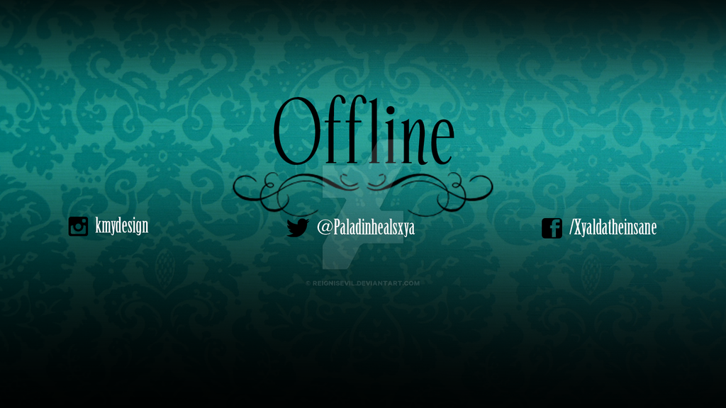 Twitch Offline page for me by MisaChanChibi