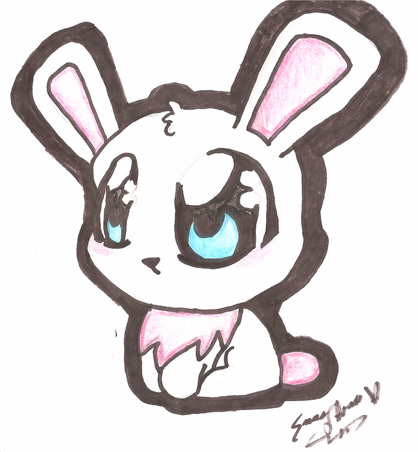 How To Draw A Rabbit Cute