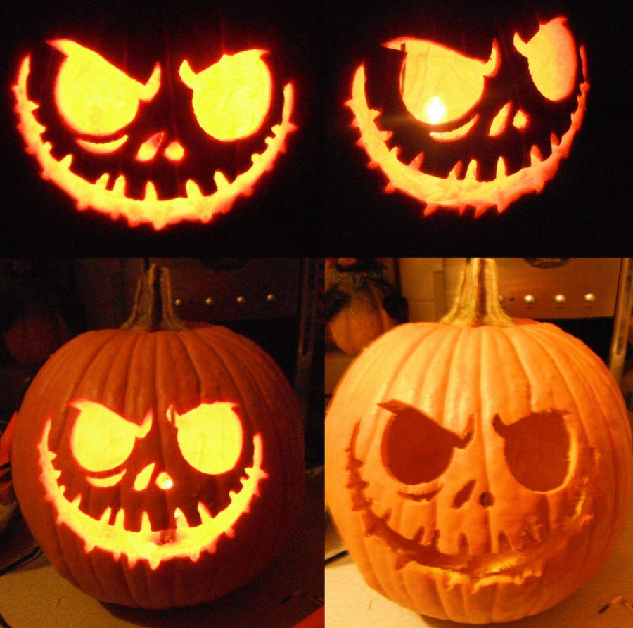 Pumpkin jack skellington by tui and la on deviantart for Pumpkin carving patterns printable jack skellington