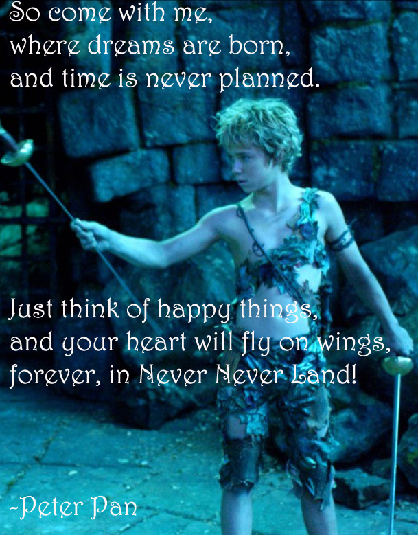 Peter Pan Quote 6 By Flaviamalfoy On Deviantart