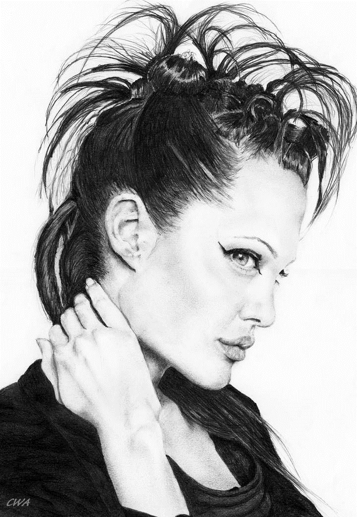 Angelina Jolie by ChrisWoottonArt