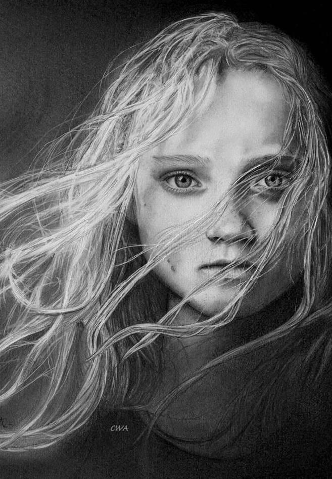 Les Miserable - Cosette by ChrisWoottonArt