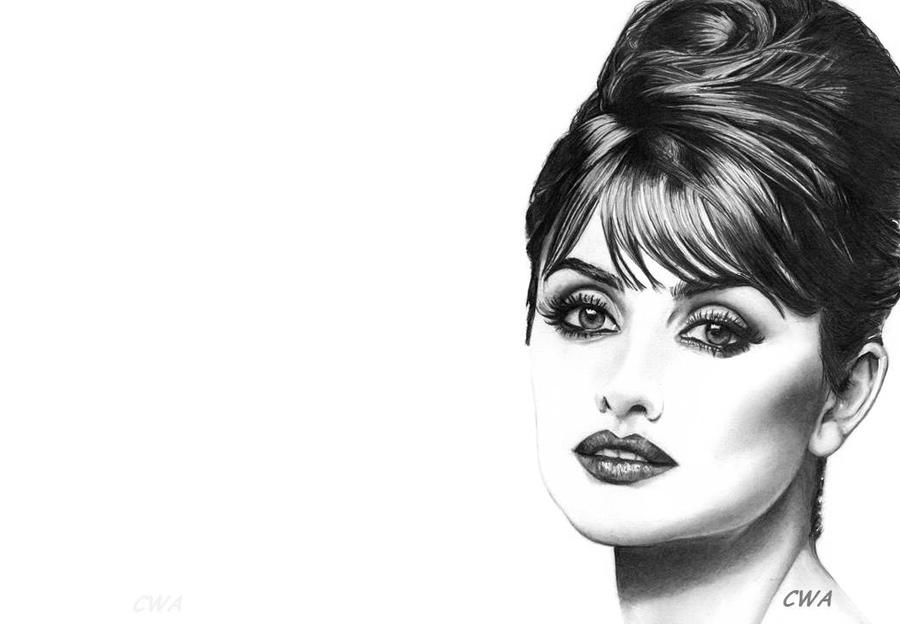 Penelope Cruz by ChrisWoottonArt