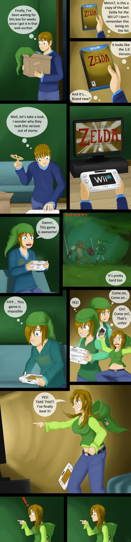 Remake - The Legend of Zelda - The Light Saber by MentalCrash