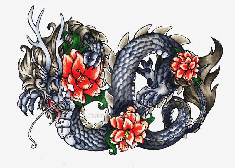 Chinese Dragon Tattoo Design by aramily on DeviantArt