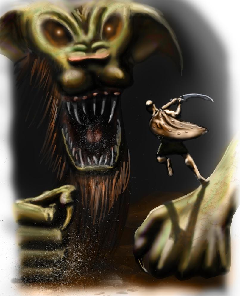 Gilgamesh vs Humbaba by Hunadin on DeviantArt  Gilgamesh vs Hu...