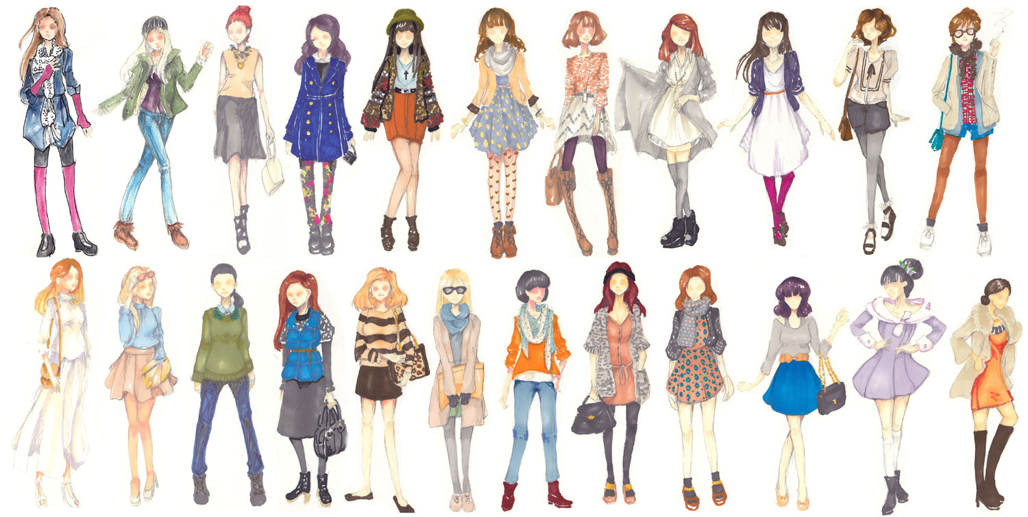 Fashion Doodles By Amyanimalover On Deviantart