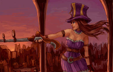 Caitlyn from LoL by amyanimalover