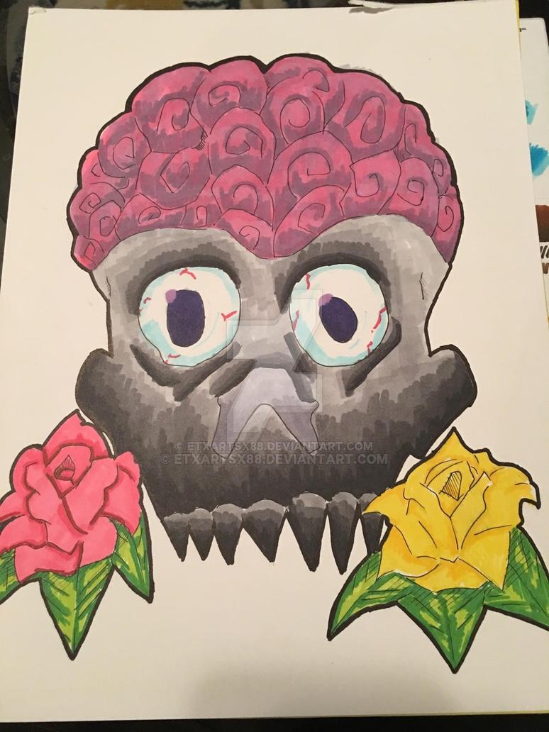 Brain and skull by ETxARTSx88