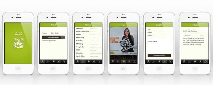 QR Code Reader App Interface