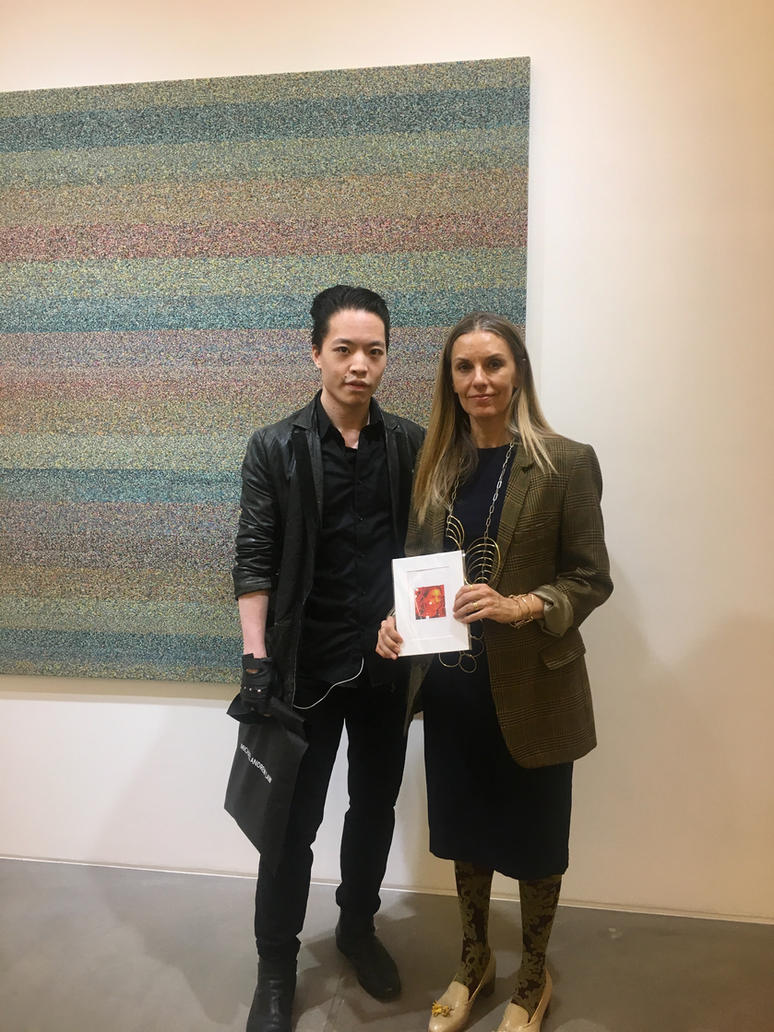 Michael Andrew Law Meets with Liza Lou by michaelandrewlaw