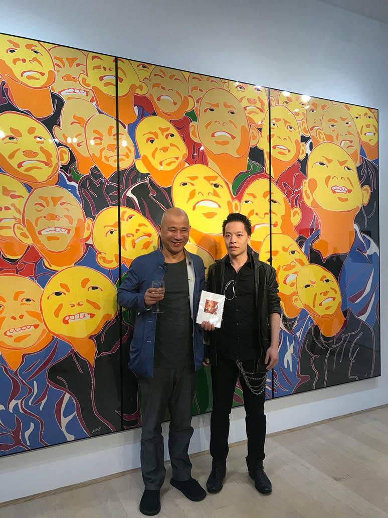 Michael Andrew Law meet with Fang Lijun by michaelandrewlaw