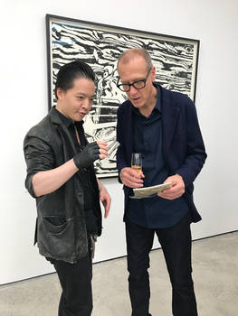 Michael Andrew Law meet with Christian Marclay