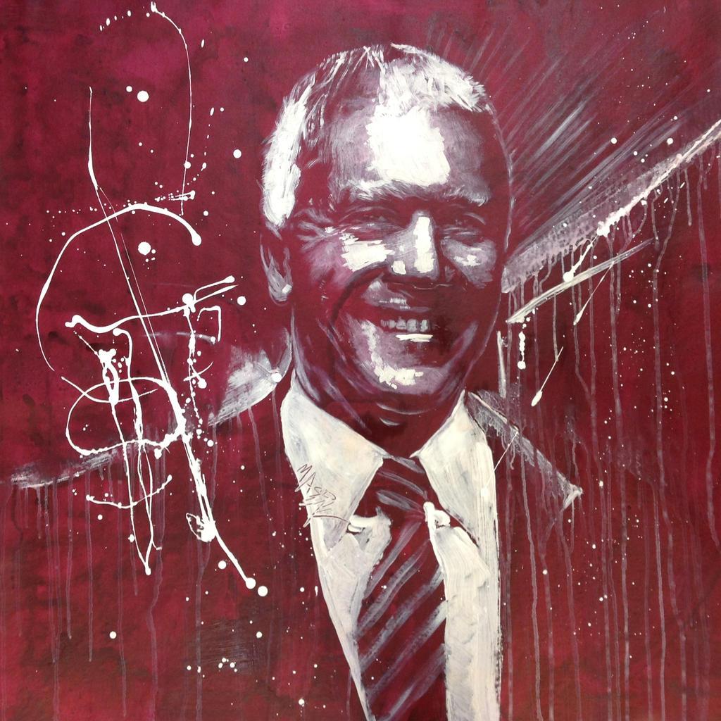 Red Larry Gagosian by michaelandrewlaw