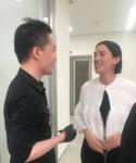 Law Cheuk Yui meet Artist Sarah Morris 2 by michaelandrewlaw