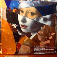 I Love Girl with A Pearl Earring Work in Progress by michaelandrewlaw