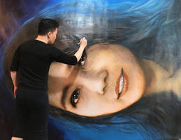 The Portrait of an Artist (Blue Jazz) by michaelandrewlaw