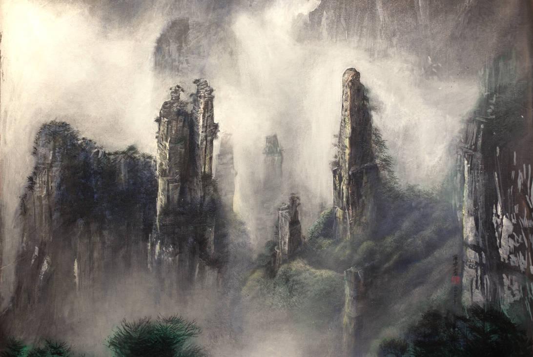 Zhangjiajie landscape by Michael Andrew Law by michaelandrewlaw
