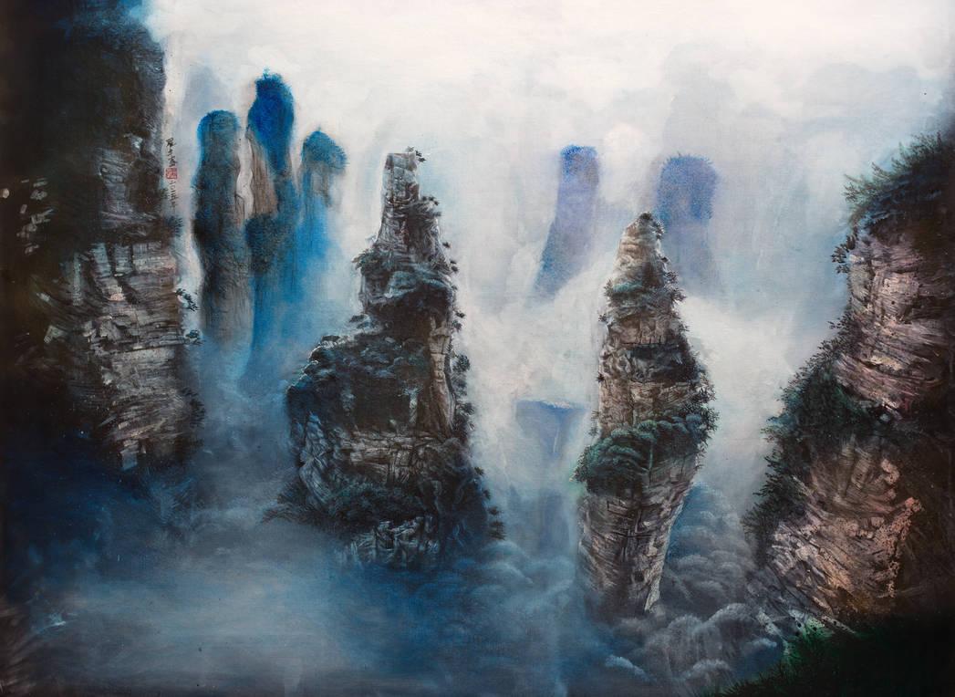 Zhangjiajie landscape 2 by Michael Andrew Law by michaelandrewlaw