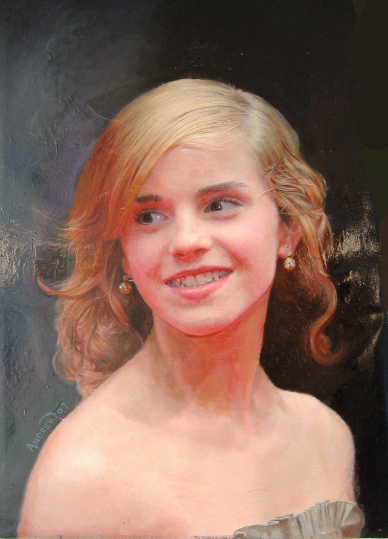 Emma Watson oil on canvas by michaelandrewlaw