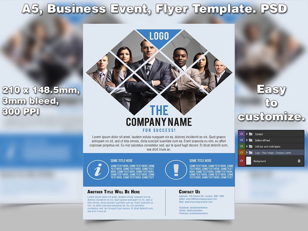 Business Event Flyer Template A PSD By StudioGFX On DeviantArt - Event brochure template