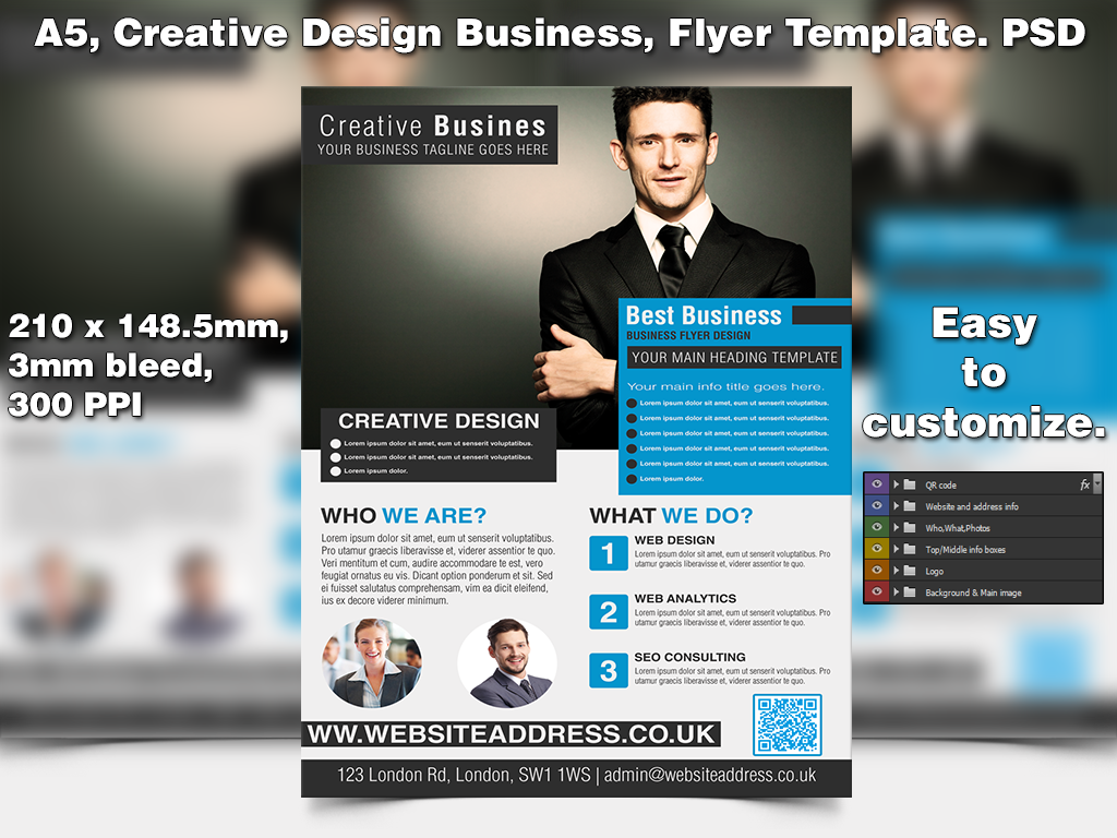 Creative design business flyer template a5 psd by studio81gfx on creative design business flyer template a5 psd by studio81gfx friedricerecipe Images