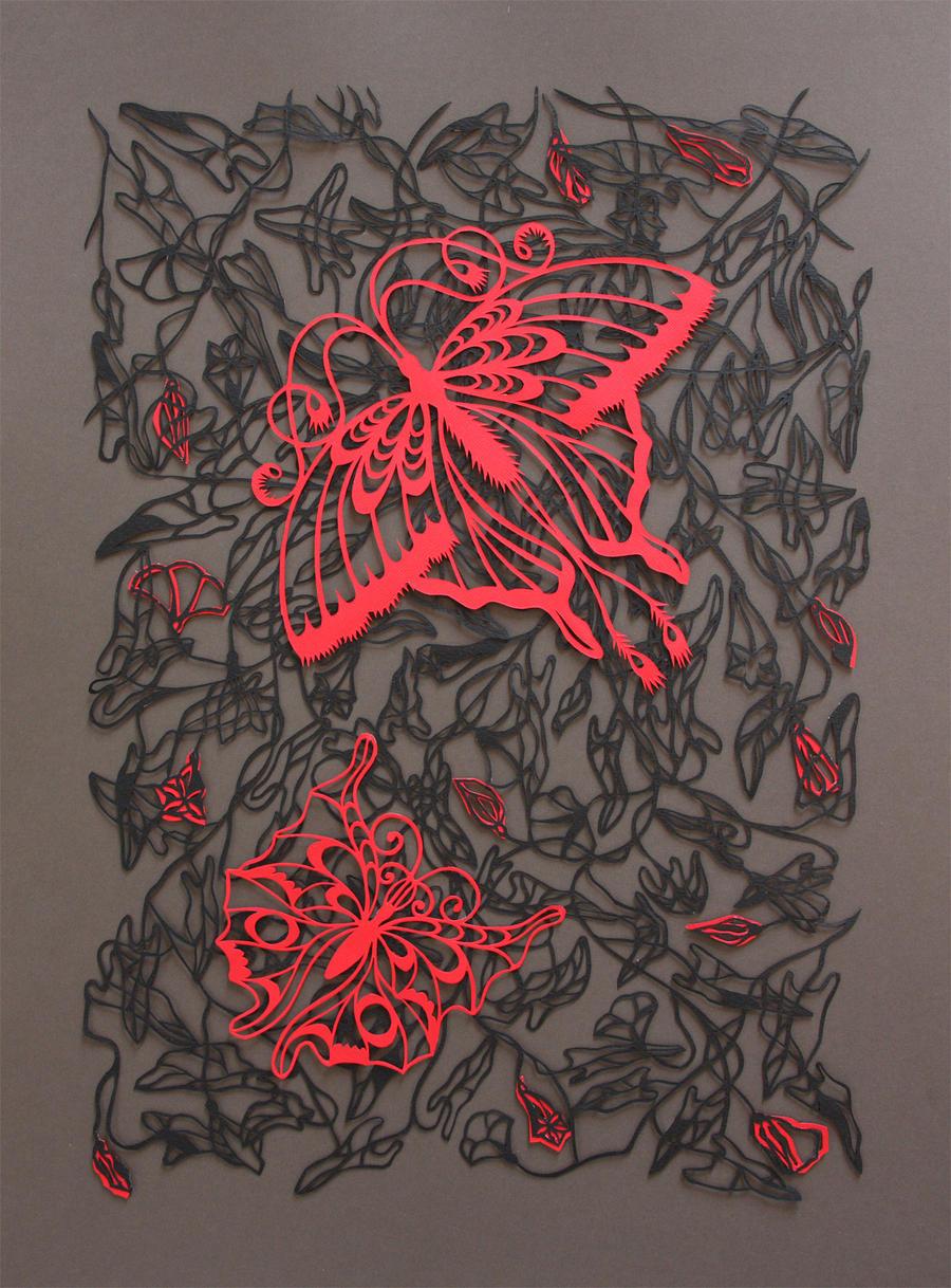 Butterfly field by Ona-Elena