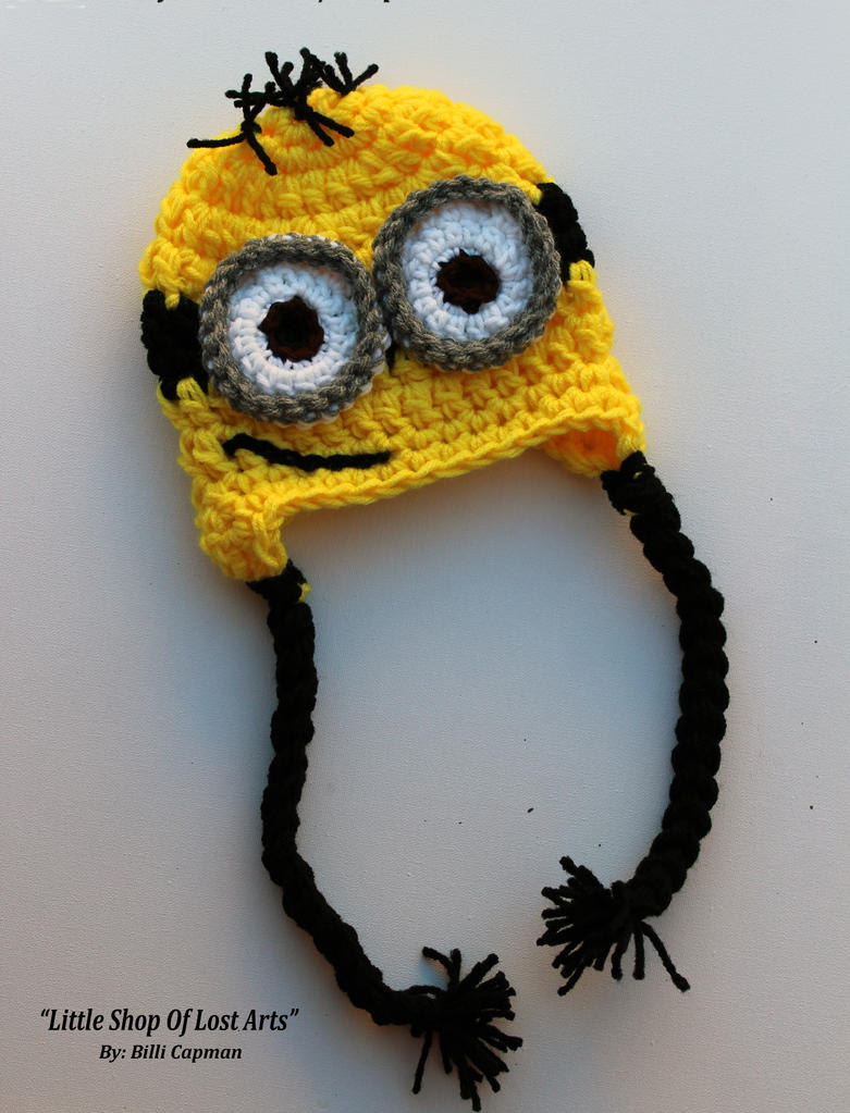 Crochet Hat Pattern Minion : Minion Crochet Hat by LittleShopOfLostArts on DeviantArt