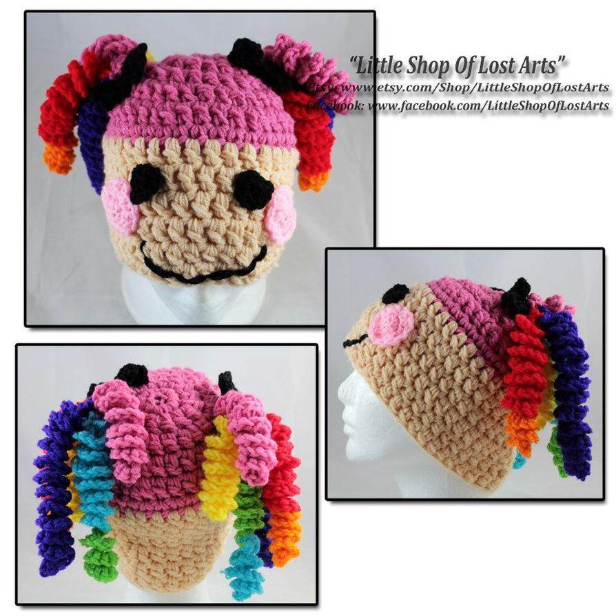 Free Crochet Pattern For Lalaloopsy Hat : Rainbow hair Lalaloopsy inspired crochet hat by ...