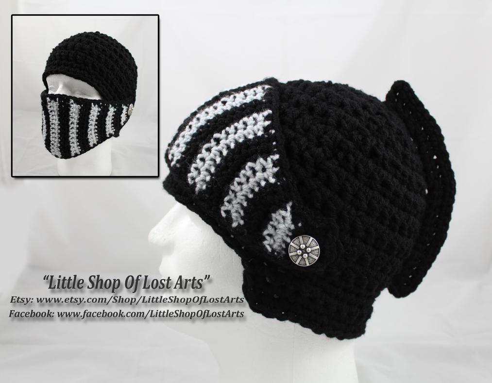 Crochet Black Knights Helmet. by LittleShopOfLostArts on DeviantArt