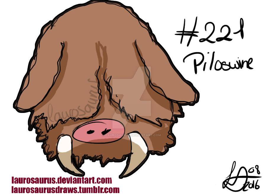 a year of pokemon 221 piloswine by laurosaurus on deviantart