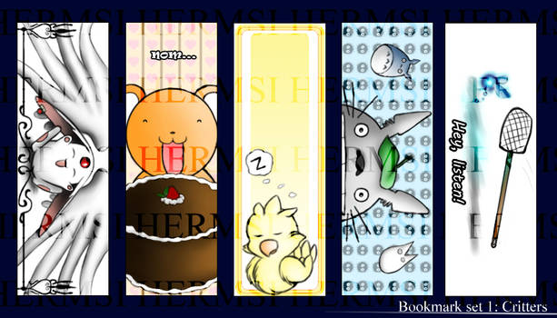 Bookmark Set 1: Critters