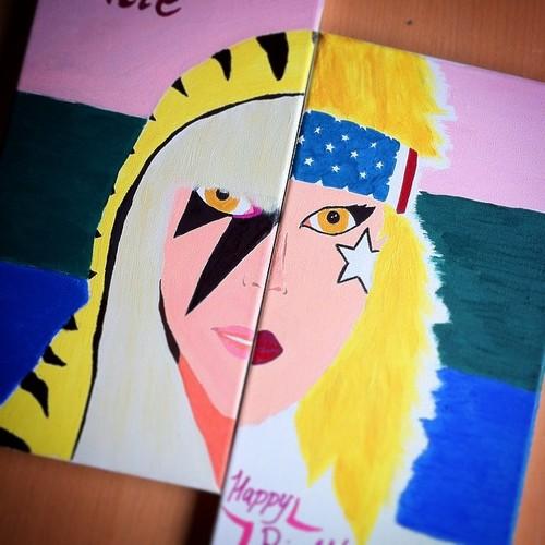 Lady Gaga Canvas by tazm3k