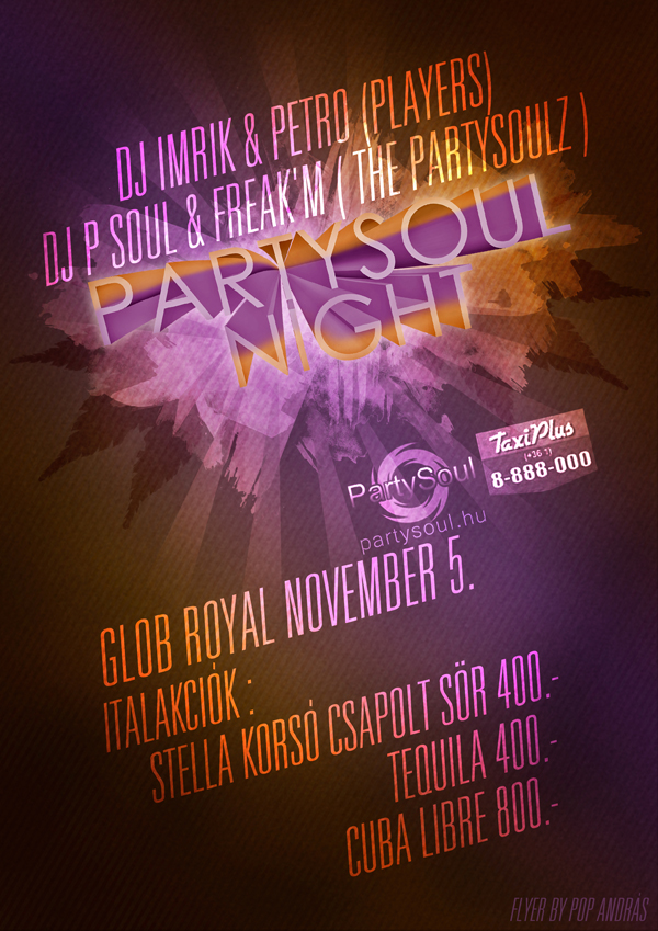 PartySoul Night Flyer by andraspop