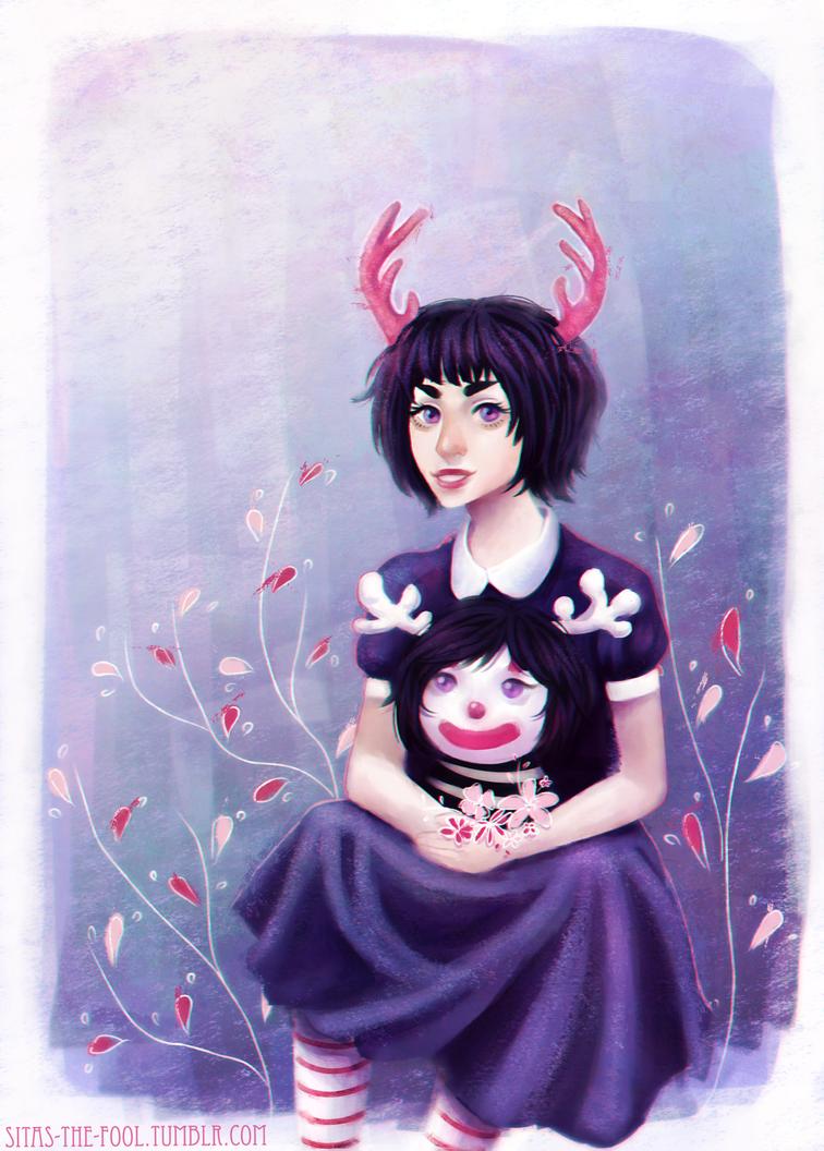 Deer girl by Sitas-the-Fool