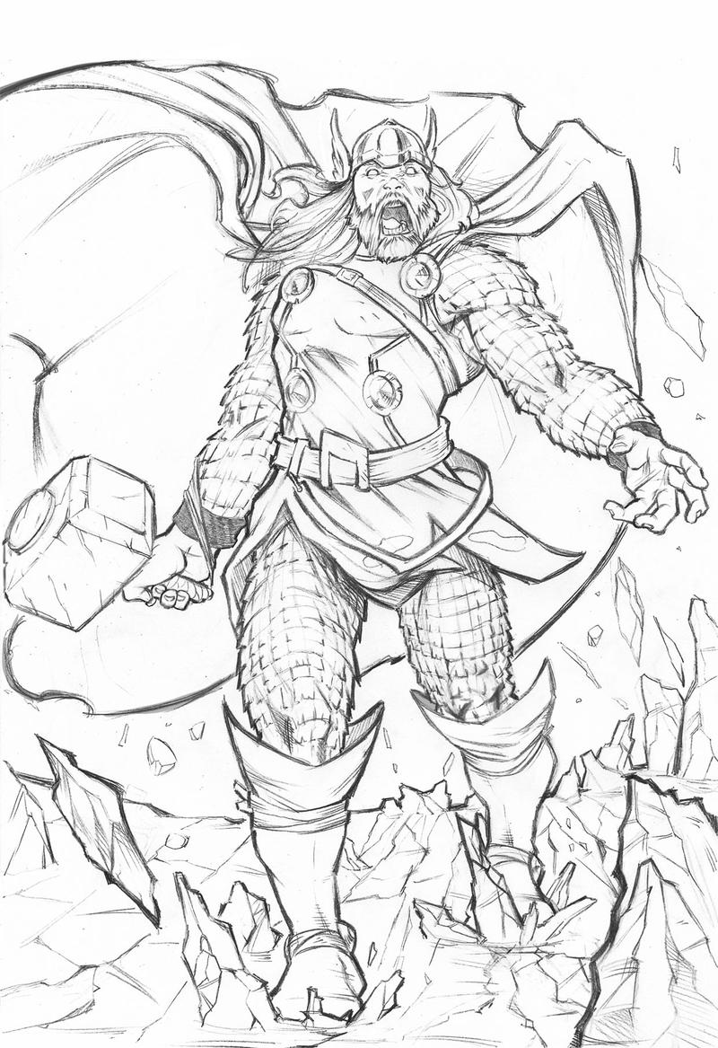 When Scanning Line Art You Should : Thor coloring pictures