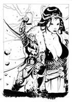 Thor and Loki inks by xavor85