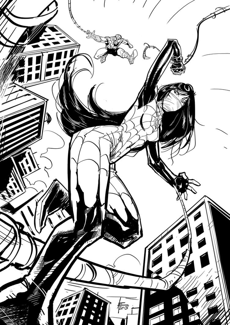 Silk and Spidey Illustration by xavor85