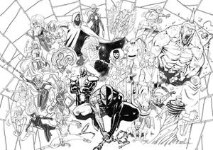 Spiderman -Megacommission- (inks) by xavor85