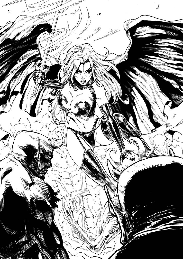 Lady Death Tribute (2020) by xavor85