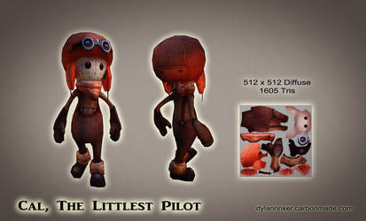 Cal, The Littlest Pilot - Low Poly - Wireframes by Stoop--Kid