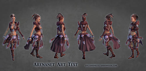 ArenaNet Art Test - Female Model Turnaround by Stoop--Kid